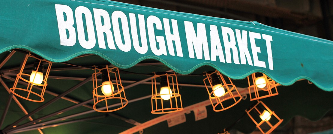 Treat yourself to some grub at Borough Market